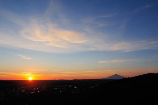 自然公園の上より夕日