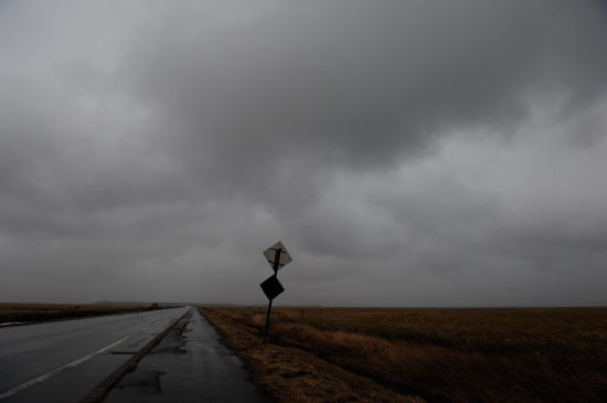 標識~雨の日