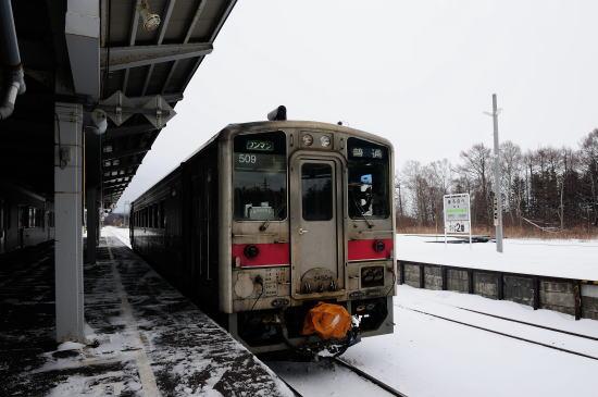 JR幌延駅にて