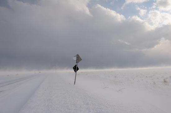 標識~地吹雪