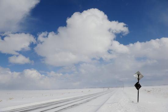標識~地吹雪の晴れ間に