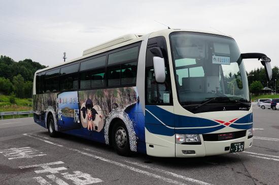 沿岸バス 特急はぼろ号 絶景領域 新発見! 萌えっ子ラッピングバス