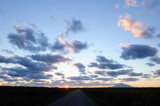 原野の夕方