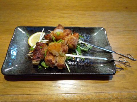 豚肉ねぎ巻き串おろしポン酢