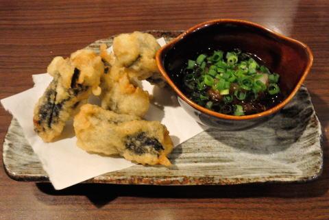 牡蠣の海苔巻あげおろしポン酢