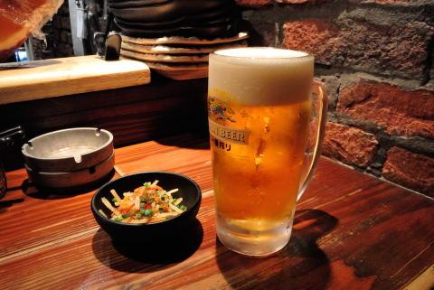 お通しと生ビール