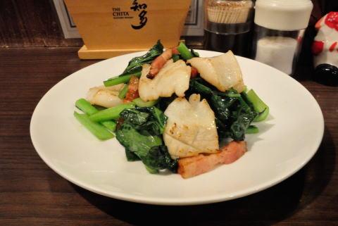 イカと小松菜の塩炒め