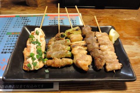 串焼き盛合せ(おまかせ)5本塩