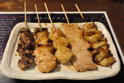 串焼き盛合せ(おまかせ)5本 タレ