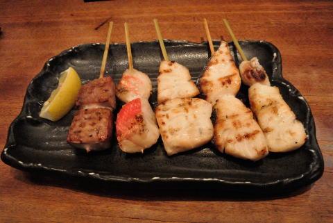 鮮魚の串焼き盛合せ