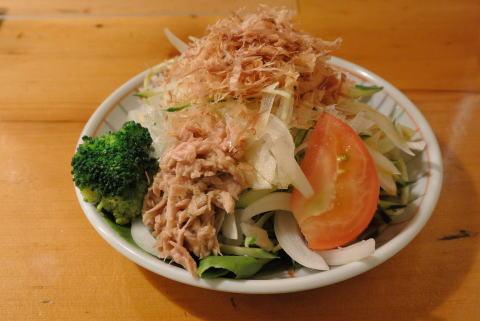 新玉ねぎとツナのサラダ(ポン酢)