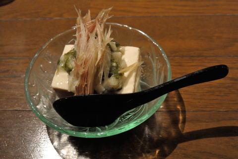 茗荷たっぷりネバネバ豆腐(季節のオススメの品)