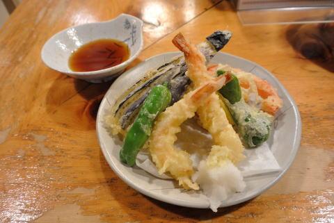 海老と夏野菜の天ぷら