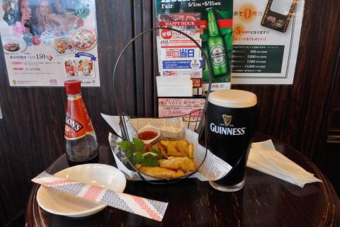 フィッシュ&チップスとギネスビール
