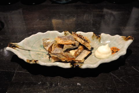 氷下魚の炙り