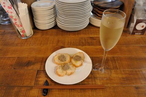 レバーパテとシャンパン(ちょい飲みセット)