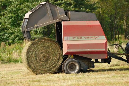 牧草ロールできあがり