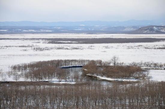 冬の細岡展望台