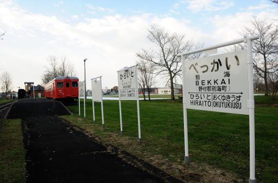 キハ22 239と駅名標