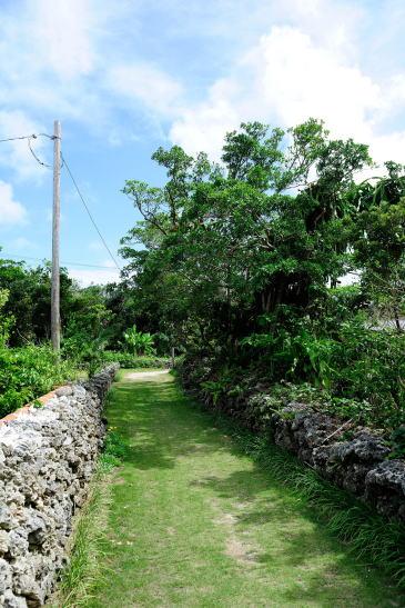 新城島の島内を歩く