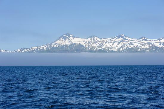 残雪の知床連山