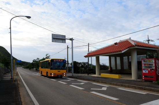東運輸 「平野」バス停と平野線
