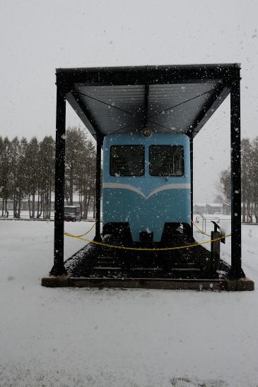 雪の日の鶴居村営軌道