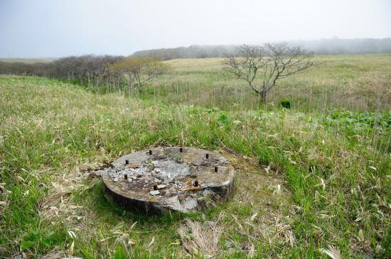 アンテナの基礎跡