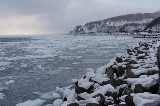 流氷の海岸