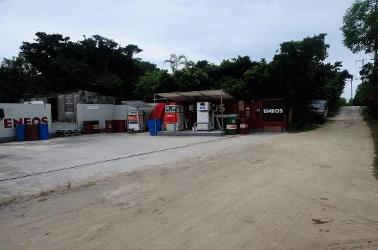竹富島のガソリンスタンド