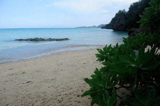 別の道をゆくと、美しい海岸に出ます。