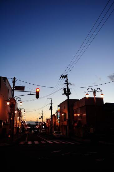 梅ヶ枝町の夕暮れ