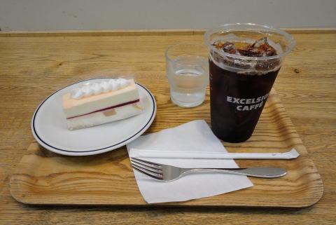 アイスコーヒーLサイズ &白桃のレアチーズケーキ セット