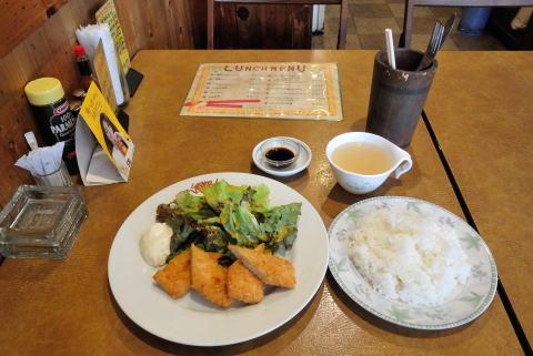 週替わりフライ定食(イカフライ) スープ付き
