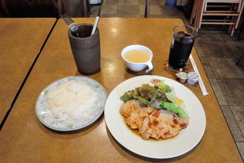 生姜焼き定食(スープ付き)+ランチドリンク