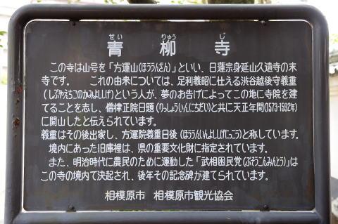 青柳寺の解説板