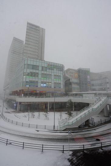ボーノ相模大野、雪降る日