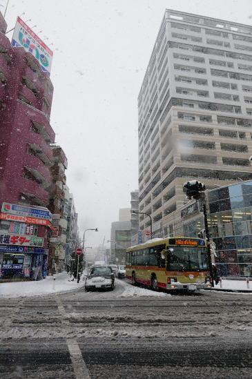 相模大野、雪降る日
