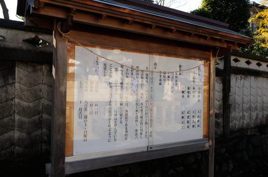 日枝神社 解説板