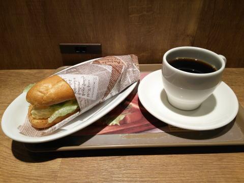 ぷりぷり海老とたまごのサンド、ブレンドコーヒーセット(ランチセット)