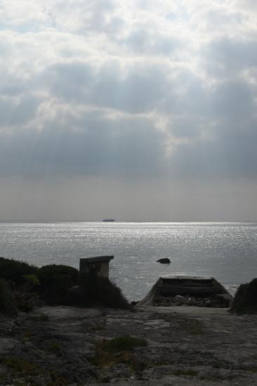 喜屋式御嶽近くにある古い桟橋の跡