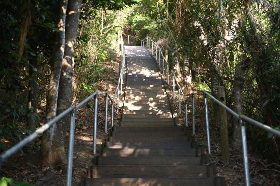 大岳展望台への階段