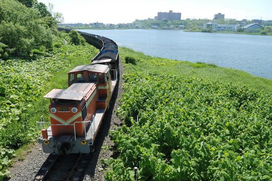 去り行く石炭列車