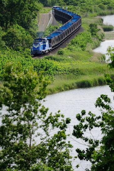 知人からの戻りの石炭列車