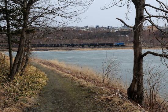 湖畔の道~早春