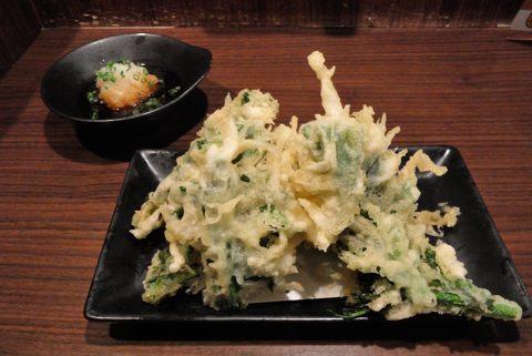 菜の花の天ぷら