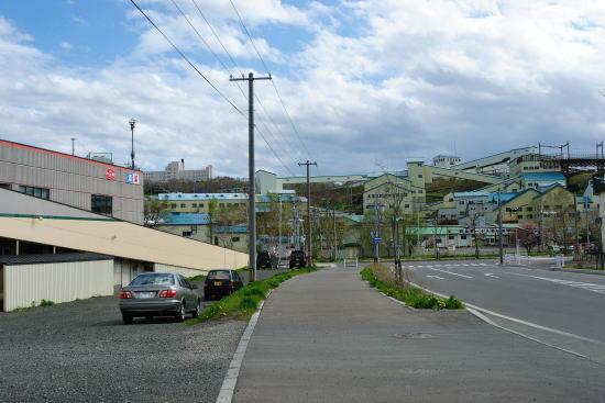 選炭工場付近の線路跡