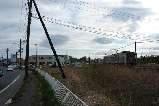 材木町付近の線路跡