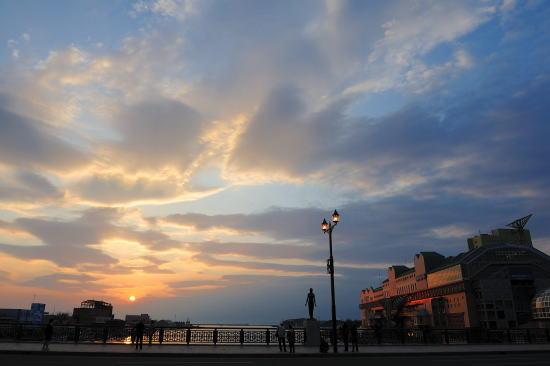 幣舞橋~色づく夕空