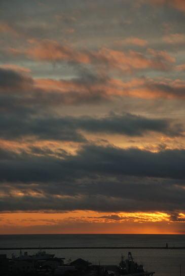 ラビスタ釧路川から望む夕日